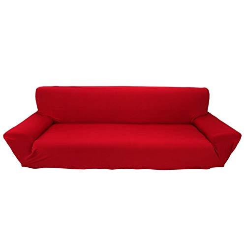 Funda para sofá de Cuatro Asientos, 7 Colores sólidos, 4 plazas, Funda de sofá elástica elástica Completa, Funda Protectora para sofá, Gran Oferta(borgoña)
