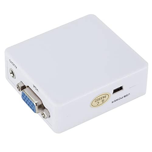PFDTS Adaptador De Audio De Caja De Video Convertidor VGA Compatible Con HDMI Portátil 1080P Adecuado Para Proyector De Computadora Portátil PC (Color : As shown, Size : One size)