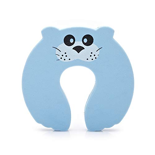 LOVE-HOME 10Pcs Sécurité Cartoon Porte Clamp, Sécurité pour Bébé Cute Animal Lock, Pincez Clip De Sécurité Main Stopper,D