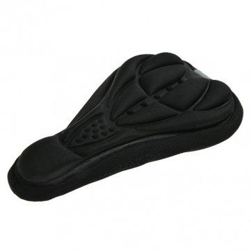 Generic Bicycle Saddle Cover Bike Seat Cushion 3D Silicone Lycra Nylon Gel Pad-Black