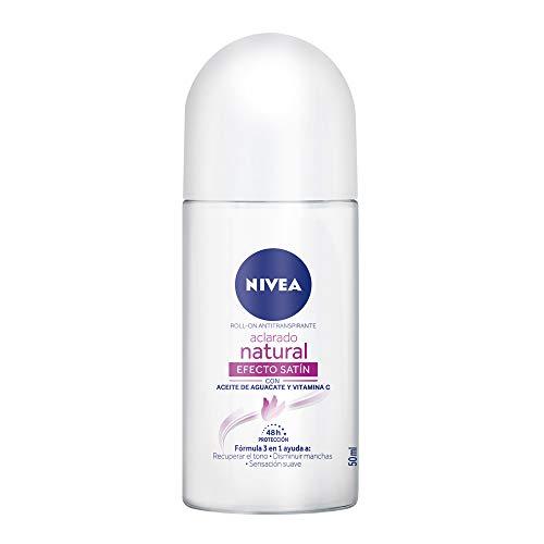 Nivea Desodorante Antitranspirante Aclarado Efecto Satín Roll On, 50ml