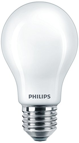 Philips Lighting Bombilla LED Estándar E27, 7.5 W, Blanco Frío, Pack de 2, 2 Unidades