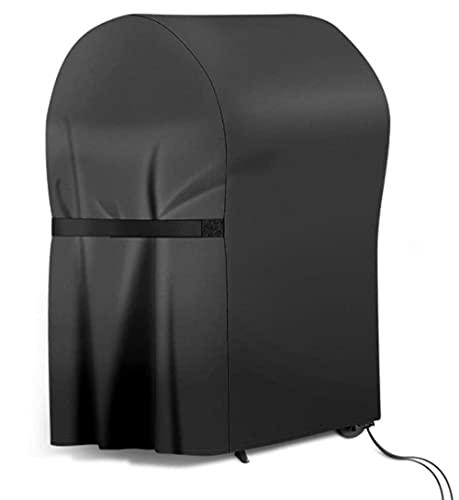 Funda para Barbacoa, Cubierta de Barbacoa Cover, 210D Oxford Impermeable Resistente al Desgarro, con Bolsa de Almacenamiento y Cordón Ajustable, Protección Polvo/Viento/UV (77x67x110cm)