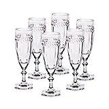 6 X Sektglas Sektkelch Champagnerglas Miss Desiree 130 ml Transparent Kristallglas 18,5 cm