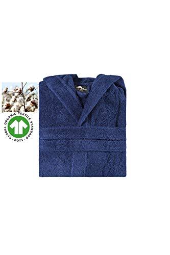 Bagno Milano Kids – Unisex Hooded Organic Bathrobe – GOTS Organic Turkish Cotton – Boys – Girls Robe, Made in Turkey