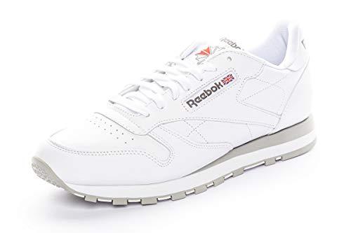 Reebok Unisex-Erwachsene Classic Lthr 2214 Sneaker, Weiß (Int-White/Lt. Grey), 44 EU