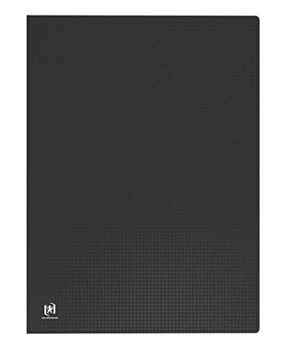 OXFORD Memphis Protège-Documents A3 80 vues Couverture Polypropylène Opaque Noir