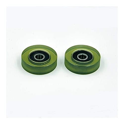 FMTZZY Rodamiento de repuesto duradero firme seguro PU 626 poliuretano cubierta cojinete 6x30x9mm eje 6mm PU62630-9 uretano cubierta PU626 rodamientos (2 unids) rodamiento de bolas