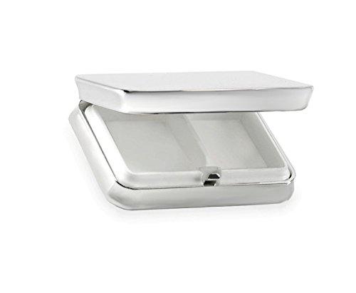 silberkanne Pillendose Hamburg 6x4x1,5cm Silber Plated versilbert in Premium Verarbeitung