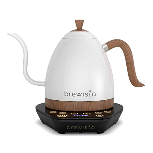 Brewista | Artisan 1.0L Electric Gooseneck Kettle | Electric Water Kettle For Pour Over Coffee (Pearl White)