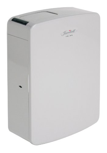Janibell MPV10A ABS 2-Gallon Touchless and Hygienic Sanitary Napkin Disposal System, Rectangular, 5-1/2' Width x 11-1/4' Depth x 16-1/2' Height, Gray