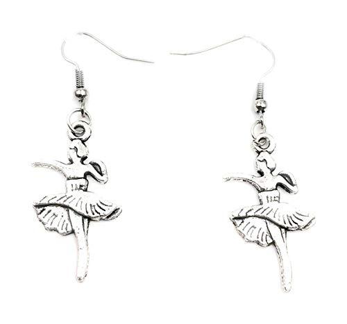 Orecchini a forma di ballerina con ganci in argento Sterling, in confezione regalo