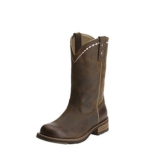 Ariat Women's Unbridled Roper Western Cowboy Boot, Distressed Brown, 8.5 M US