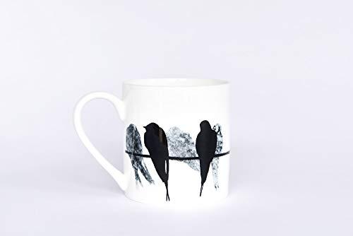 Swallow pint mug bone china made in uk