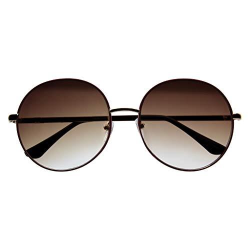 Emblem Eyewear - Occhiali Da Sole Drandi da Donna Metallo Oversize per Donna (Viola)