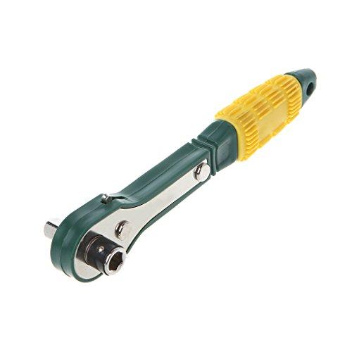 Buwei Mini Llave de trinquete rápida 1/4 Destornillador Llave de Enchufe rápida Herramientas de reparación