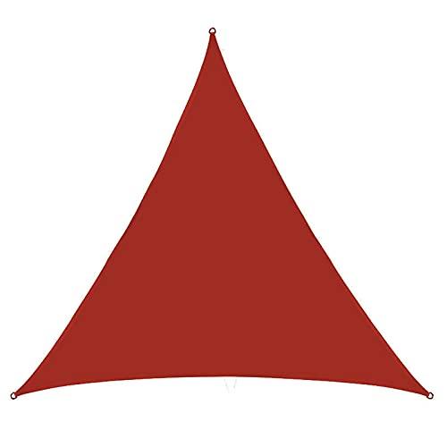 KLFSJD Toldo de vela triangular, impermeable, protección contra vela y protección UV para toldos al aire libre para patios (4 x 4 x 4 m, rojo oxidado)