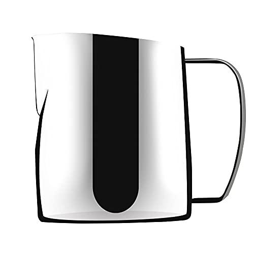 ANCLLO 400 ml rostfritt stål krämskummare skummande kanna, espresso kaffe mjölk ångande kanna för latte cappuccino kopp