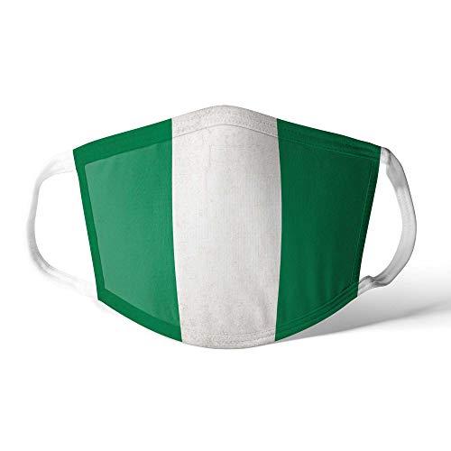 M&schutz Maske Stoffmaske X Groß Notleidende Flagge Nigeria/Nigerianer Wiederverwendbar Waschbar Weiches Baumwollgefühl Polyester Fabrik