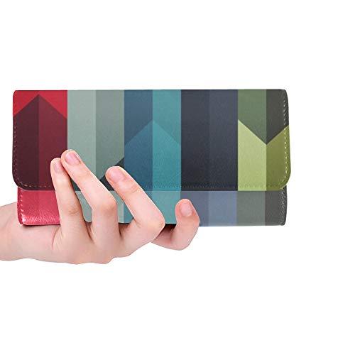 Unique Custom Pastel Stripes Vector Mobile Wallpaper X Women Trifold Wallet Long Purse Credit Card Holder Case Handbag
