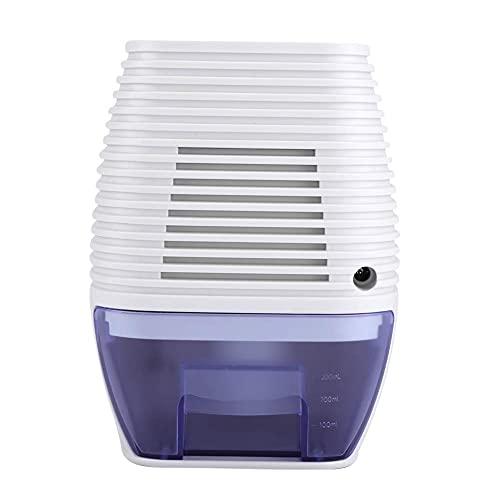 deumidificatore piccolo elettrico per la casa, silenzioso detergente per aria portatile 300ml / 24h per umidità, muffa, umidità in casa, cucina, camera da letto, roulotte, ufficio, garage, bagno,