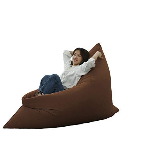 RTMX&kk Funda De Puff Gamer Moderno - Desenfundable Puf Gigante para Decoracion Habitacion Adolescente - Puffs Infantiles - Bean Bag Chair De Salon Sin Relleno,Marrón,M
