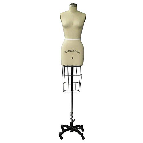 Adult Female Size 4 Half Body Professional Dress Form Pinnable Mannequin for Sewing with Right Arm #SIZE4