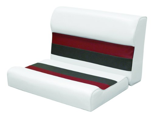 Wise 8WD95-1009 Deluxe Series 28' Pontoon Bench Seat Cushion Set (Base Required to Complete), White/Red/Charcoal