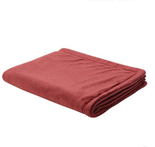 RSBCSHI La Manta de calefacción eléctrica Throw 80 × 60 cm, cómodo y Suave Felpa, Conveniente for el hogar de Viaje Oficinas (Color : Red)