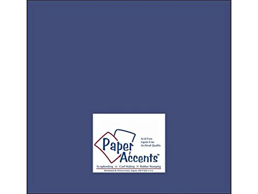 Accent Design Paper Accents PaperStash1212CornflowerBlue Cdstk Stash Builder 12x12 60# Cornflower Blue