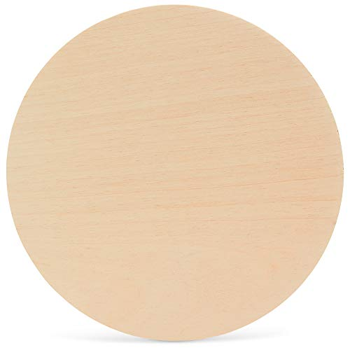 Wood Plywood Circles 14 inch, 1/4 Inch Thick, Round Wood Cutouts, Pack of 2 Baltic Birch Unfinished Wood Plywood Circles for Crafts, by Woodpeckers