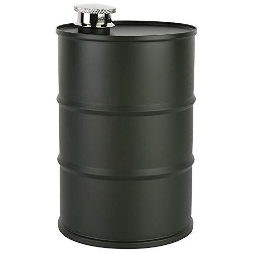 Aigid - Barril de Cerveza - Petaca portátil de Acero Inoxidable para Licor de Vino de Barril de Cerveza de 700 ml con Tapa de Sellado(Verde Oscuro)