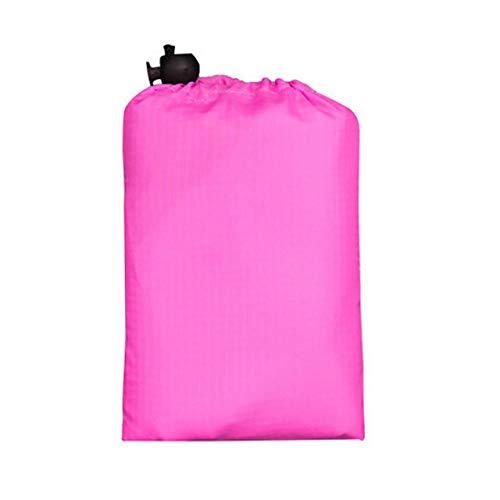 LZHLMCL Estera Mantas Senderismo Acampar Portátil Picnic Beach Mat Pocket Color Sólido Manta De Playa Impermeable Colchón De Suelo Plegable para Exteriores Estera De Cama para Acampar Rosa Rojo