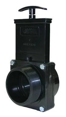 "Valterra 7308 ABS Gate Valve, Black, 3"" FPT x MPT from Valterra Products"