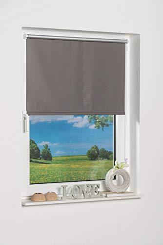 K-home Klemmfix-Minirollo 40150 (B:H) Grau Verdunklung, Stoff, 40 x 150 cm