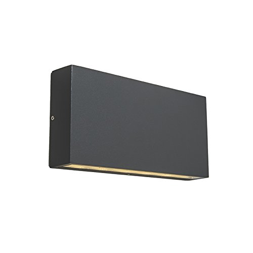 QAZQA Diseño Aplique moderno antracita LED IP54 -