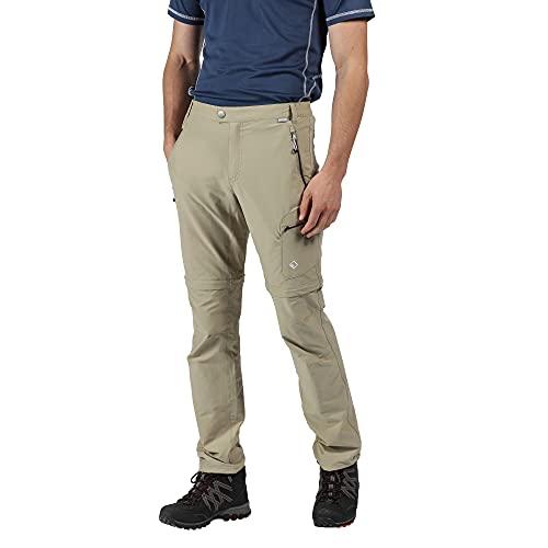 Regatta Pantalon Technique Stretch avec Jambes dézipables HIGHTON-Court Trousers Homme, Parchment, FR : XL (Taille Fabricant : 36\