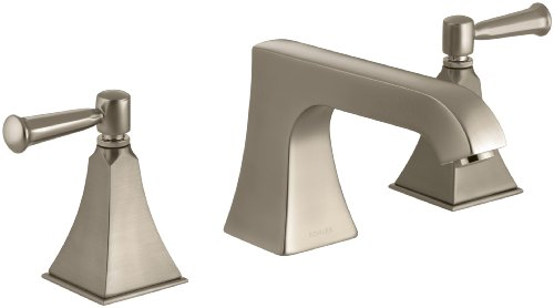 KOHLER K-T469-4S-BV Memoirs Deck-Mount Bath Faucet Trim with Stately Design and Lever Handles, Valve Not Included, Vibrant Brushed Bronze