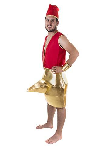 Costumizate! Disfraz de Lampara Magica para Hombre Adulto Especial para Fiestas de Disfraces y Carnaval Talla Unica