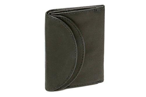 Cartera RFID Protección de información privada Cartera con Bloqueo RFID pequeña para señores Monedero para señoras LEAS, Piel auténtica, Negro - ''LEAS Mini-Edition''