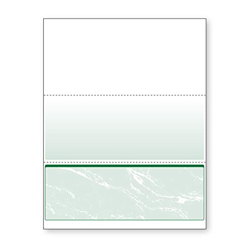 DocuGard Green Marble Bottom Check, 8.5 x 11 Inches, 24 lb, 500 Sheets, 1 Check Per Sheet (04518)