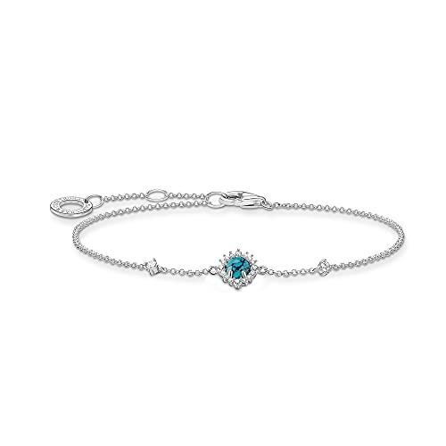 THOMAS SABO Damen Armband Türkiser Stein 925 Sterlingsilber A2023-405-17
