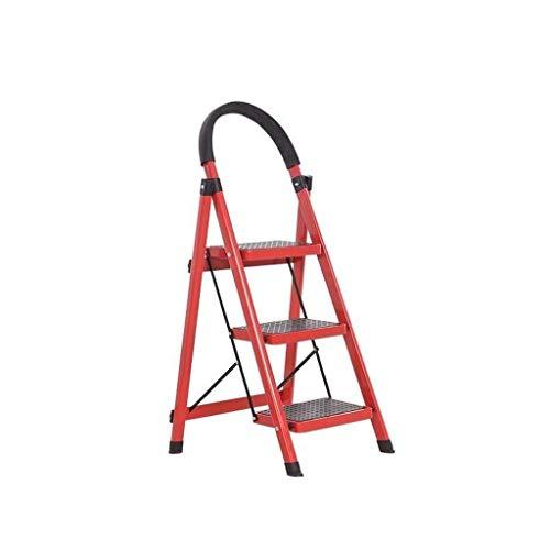 MKJ Scala Pieghevole per Uso Domestico Ladderr, 3 Gradini Scala Interna Pieghevole in Alluminio a Scomparsa , Scala Pieghevole Multifunzione per Supporto per Fiori/Portaoggetti/Scarpiera/Sgabel