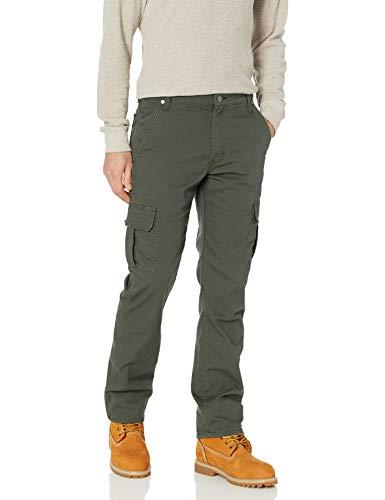 Dickies Men's Tough Max Duck Cargo Pant, Stonewash Olive Green, 32 32