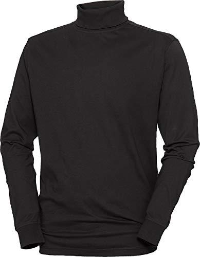LERROS Herren Rolli in Schwarz, aus feiner Baumwolle, Langarm Rollkragenpullover zum Umschlagen, mit verstärktem Kragen und Ärmelbündchen, Herrenoberbekleidung, Gr. M - XXXL