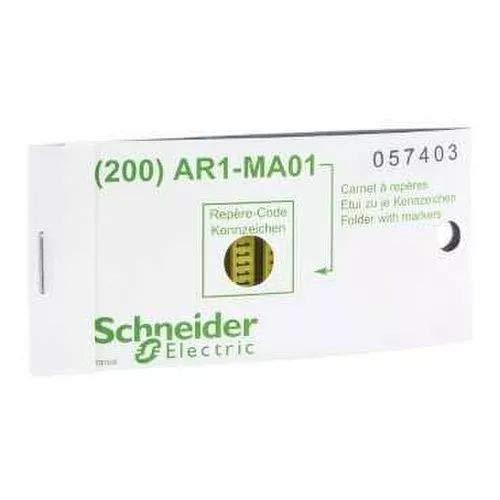Schneider AR1MB01B Kennzeichnungshülse, gelb, Verpackungeinheit: 200 Stck, Zeichen B