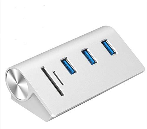 LKJHGFD RUNSHIBAIHUODIAN Multi Usb3.0 Hub 3 Port Adapter Splitter Power Interface SD TF Card Reader Fit For MacBook Air Computer Laptop (Color : White)