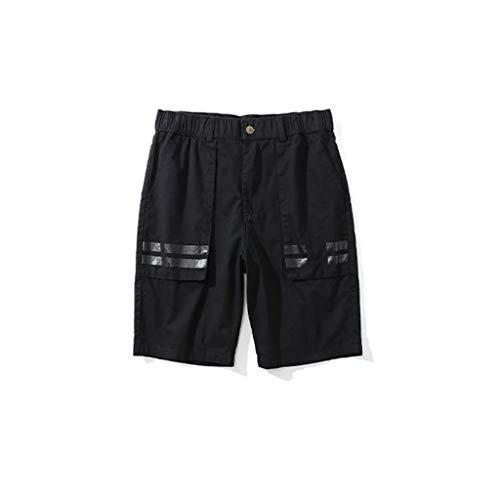 GCX- Shorts Mannen Summer Shorts Tooling shorts Hippe Shorts Comfort shorts shorts Multi Pocket Shorts Vrije tijd (Color : Black, Size : XXL)