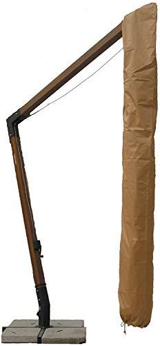 SAMIRA Custodia per ombrelloni decentrati 3x4, Fodera di Protezione ombrellone 3x4 Color Khaki