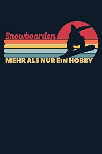 Snowboard Wintersport Retro Notizbuch: Liniertes Taschenbuch mit Rand | 6 x 9